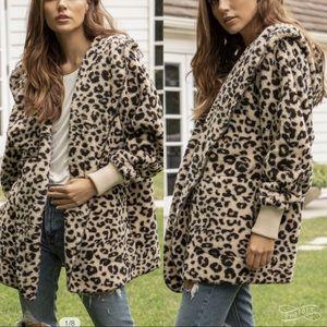 Faux Fur Sherpa Hoodie Jacket Coat Cardigan NEW